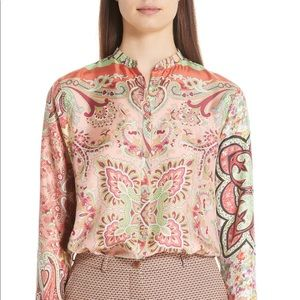 ETRO Paisley Print Silk Blouse new 46